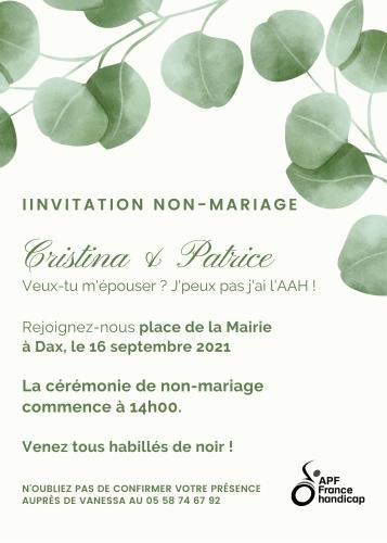 Invitation non mariage 16 septembre 2021 Dax.jpg